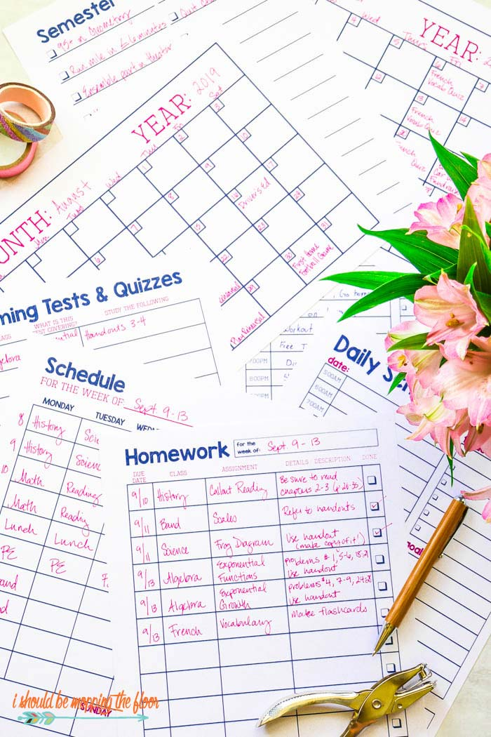 Homework Tracker Printable