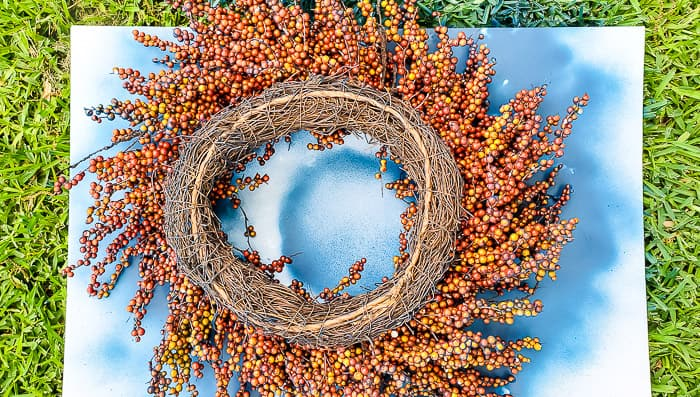 backside of wreath