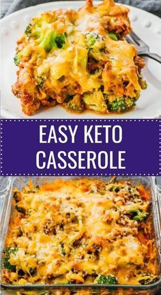 Keto Casserole With Ground Beef & Broccoli
