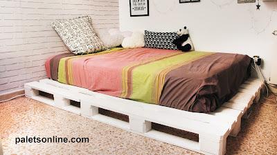 cama europalet blanco mueblesconpalets.com