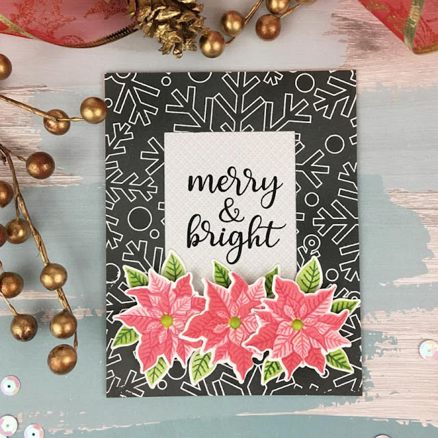 Sunny Studio Stamps: Petite Poinsettias Customer Card by Teresa Medeiros