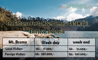 The Entrance Fee to Mount Semeru East Java (Up-to-date)