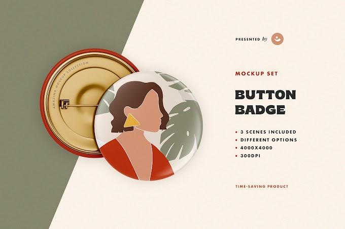 Button Badge Mockup | Mockup Set