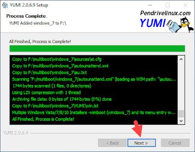 membuat multiboot windows 10, menggunakan yumi
