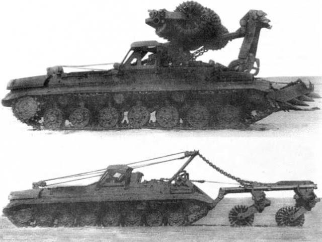 Инженерный минный тральщик на базе танка Т-10М