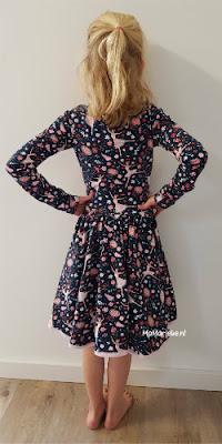 Achterzijde Regina Sofilantjes jurk