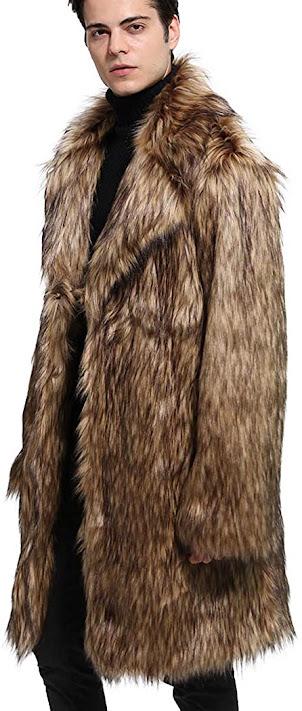 Cool Faux Fur Coats Jackets For Men