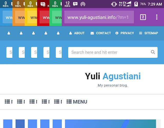 Cara merubah warna toolbar saat blog kita ditampilkan