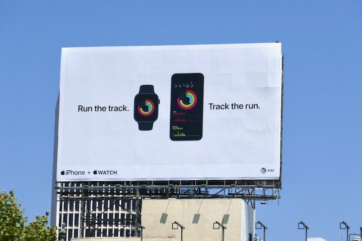 Run the track Apple iPhone Watch billboard