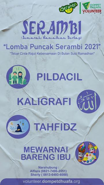 Lomba-Lomba Semarak Ramadhan Berbagi (SERAMBI) Dompet Dhuafa Volunteer Riau