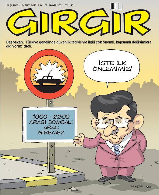 Gırgır Dergisi - 24 Şubat - 1 Mart 2016 Kapak Karikatürü