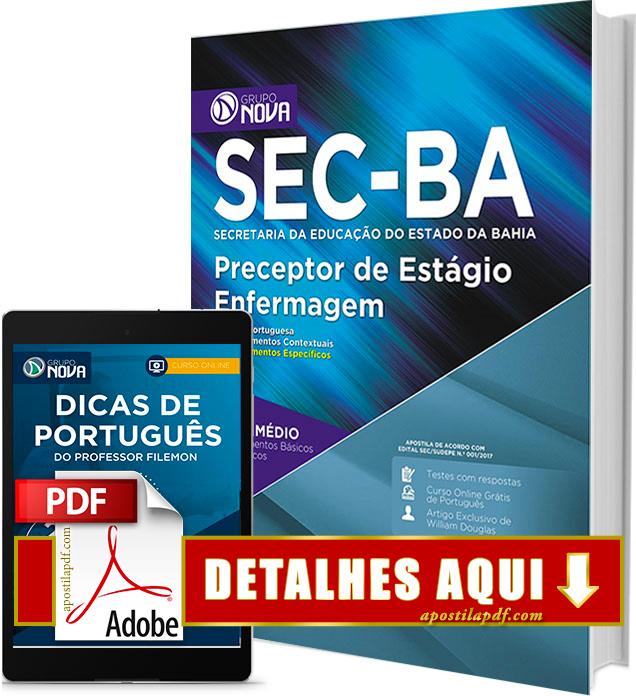 Apostila SEC BA 2017 Preceptor de Estágio Enfermagem Impressa