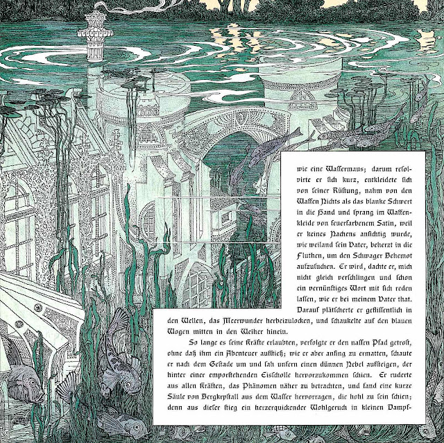 a Heinrich Lefler illustration of a 1900 underwater city