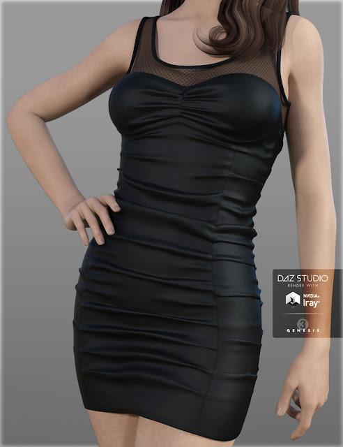 HC Club Dress A for Genesis 3 Female