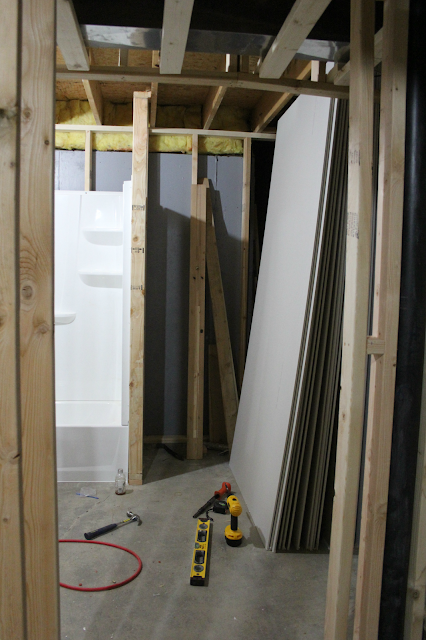 before pic of our bathroom addition - Hello Lovely Studio