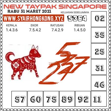 Prediksi New Taypak Togel Singapura Rabu 31 Maret 2021