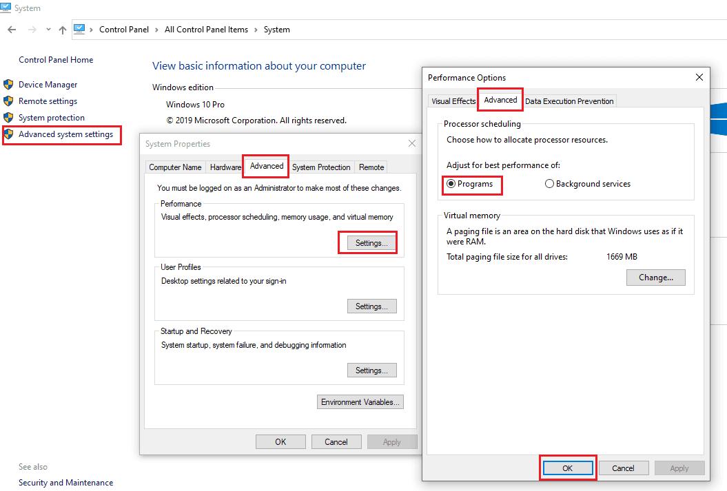 تخصيص موارد المعالج لتسريع ويندوز 10