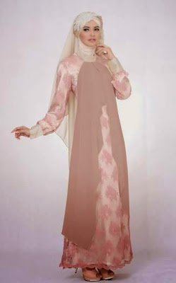 Baju Muslim Bahan Brokat Masa kini