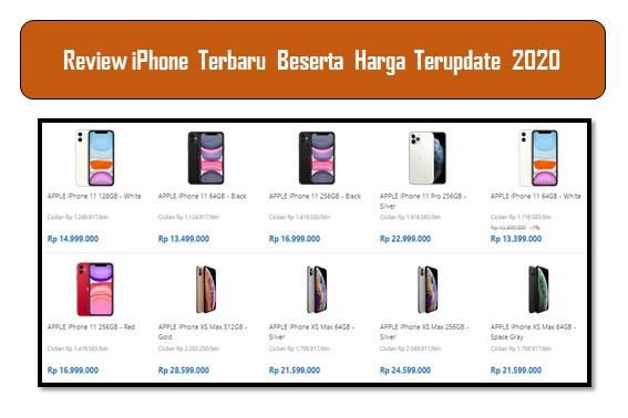 Review iPhone Terbaru Beserta Harga Terupdate 2020