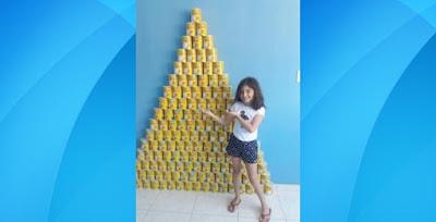 Como presente de aniversário, garotinha florestense pede latas de leite ninho para serem doadas ao Hospital do Câncer