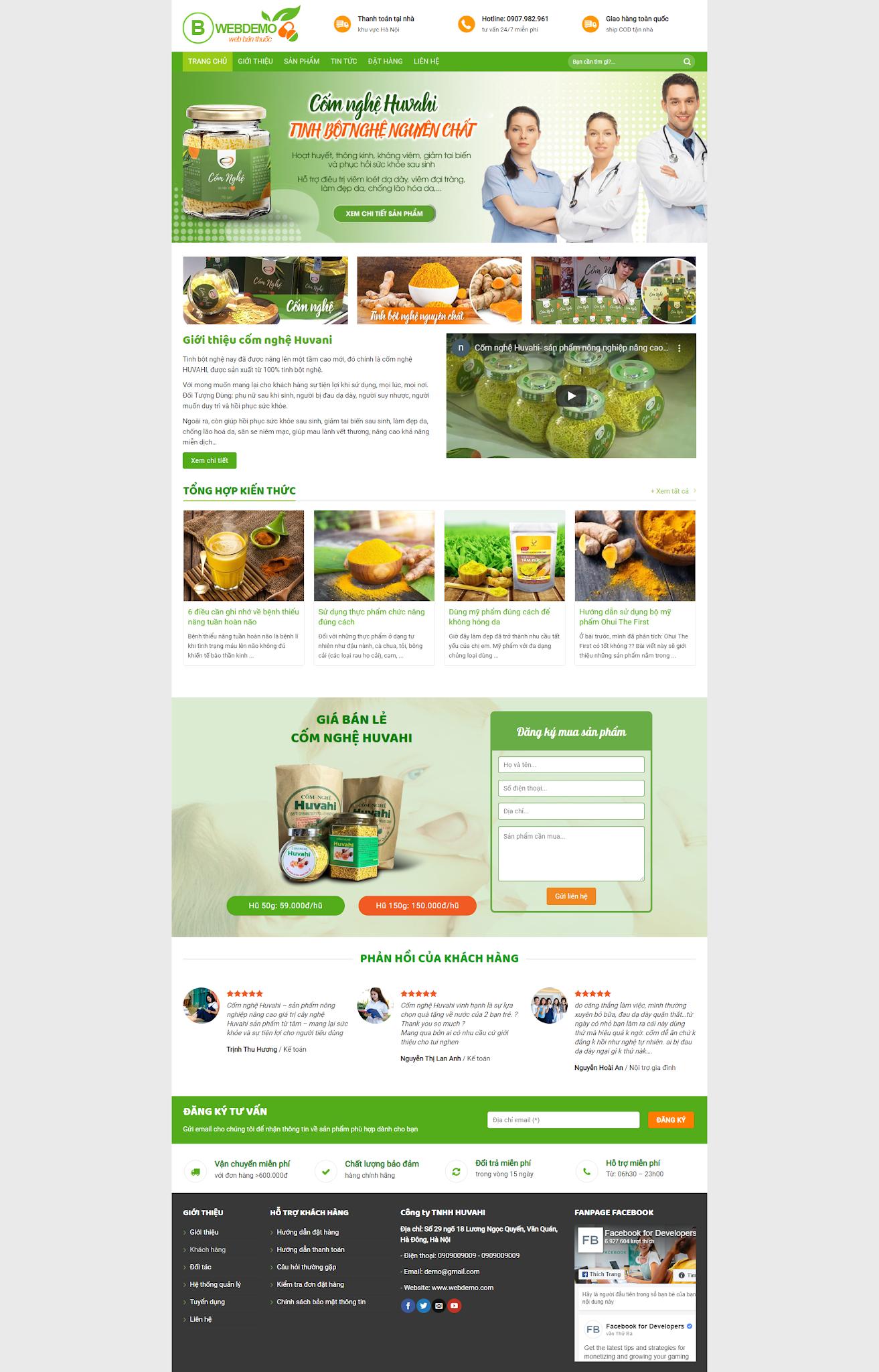 Mẫu website Mỹ Phẩm - Sản phẩm