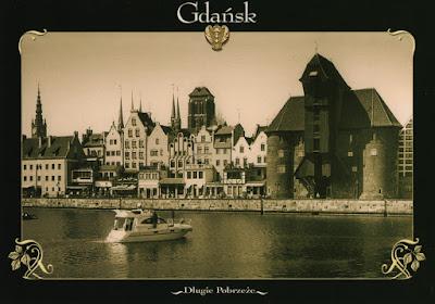 Postal de la ciudad polaca de Gdansk