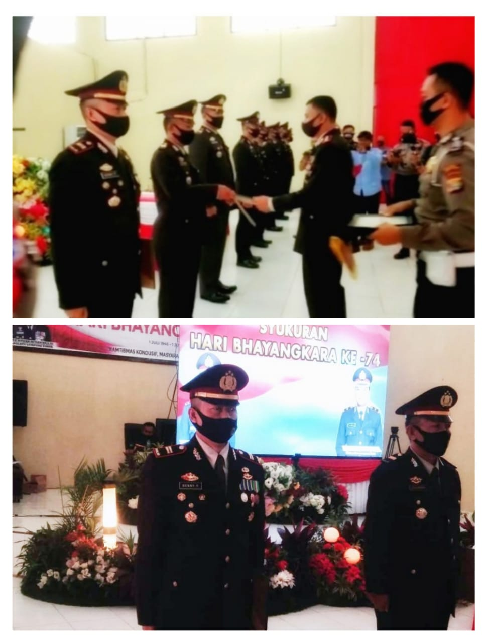 HUT Ke-74 Bhayangkara Polsek Way Jepara Dapat Penghargaan Terbaik Satu Dari Kapolres Lamtim