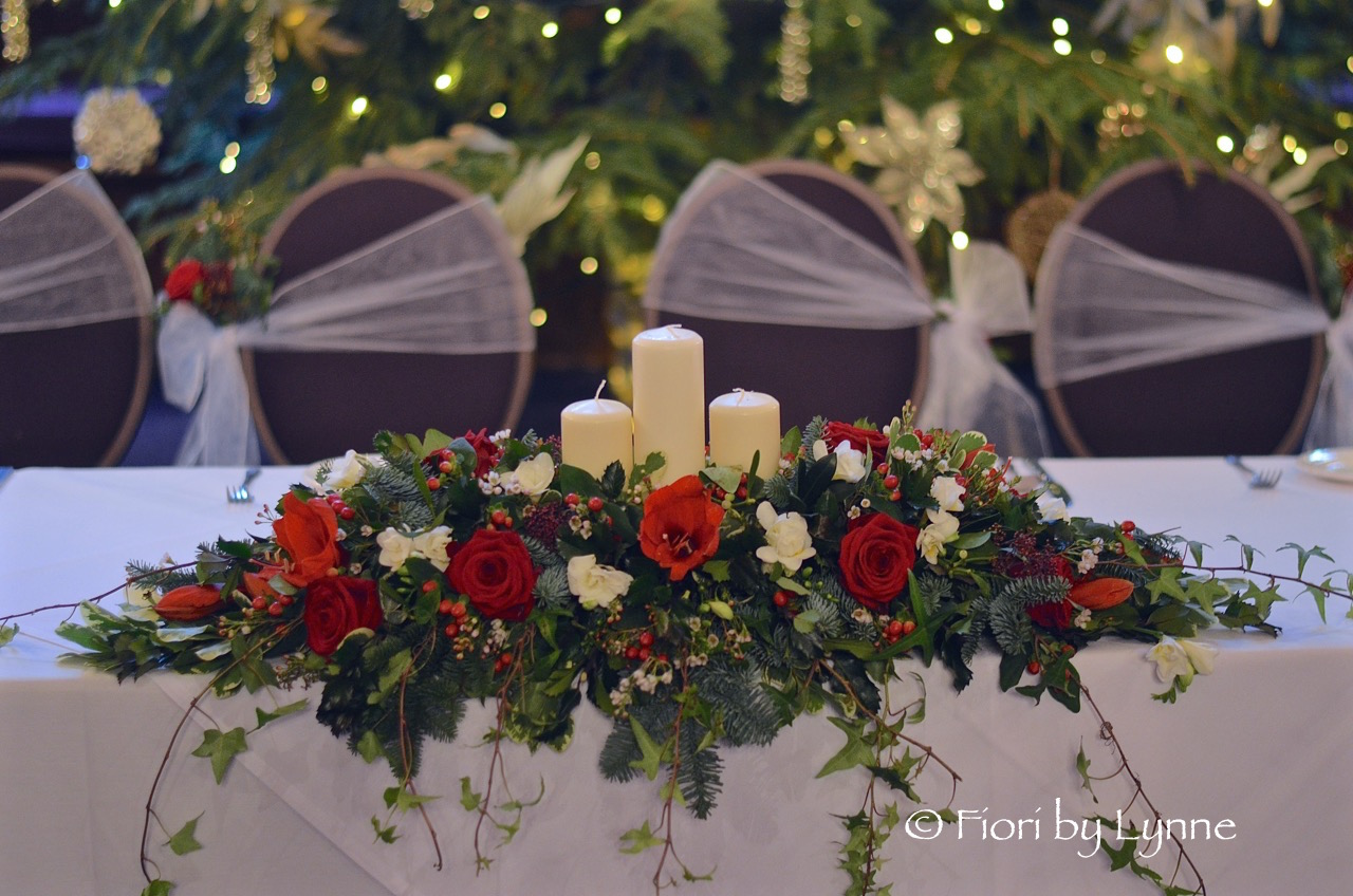 Beautiful For A Traditional Christmas Wedding And Combines Very Well With The Tall Candelabra Designs Lastly Top Table