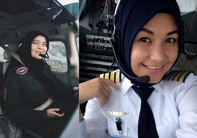 Putroe Sambinoe Meutuah dari Aceh dan Iin Irjayanti dari Papua merupakan dua pilot perempuan berhijab Indonesia yang telah berhasil mengikuti Solo Flight