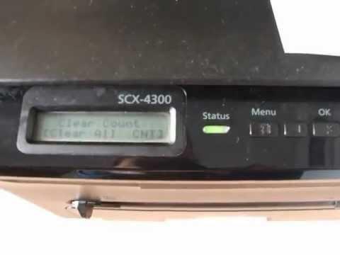 تصفير عداد طابعة سامسونج Reset Samsung SCX-4300 - تحميل برنامج تعريفات عربي لويندوز مجانا