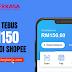Cara Tebus e-Belia RM150 Menggunakan Shopee