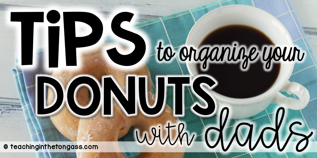 Activities and ideas for Donuts with Dads