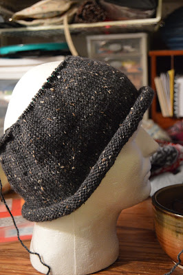 My knitting gauge was off and this hat is coming out large enough to be a sweater.