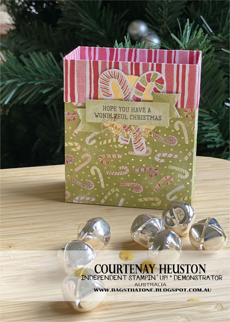 Candy cane gift bag