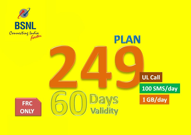 BSNL extends prepaid mobile FRC ₹249 plan as a regular offer from 1st April 2021 across all the telecom circles