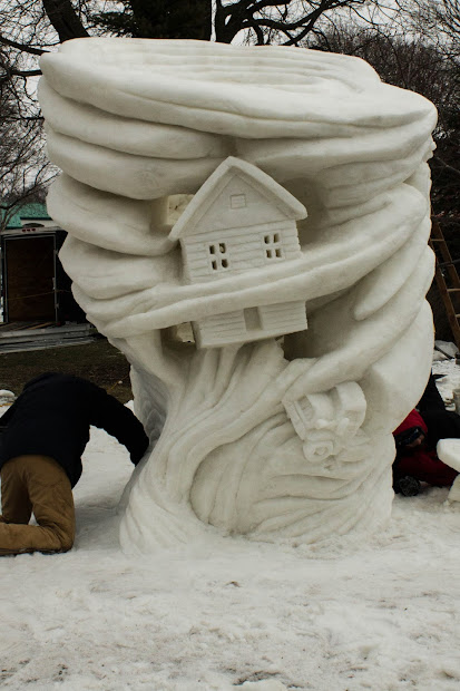 Midwestern City Girl Snow Time National Sculpting