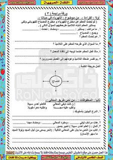 حصريا بوكليت مدرسة دلتا للغات في منهج اللغة العربية للصف الخامس الابتدائي الترم الاول