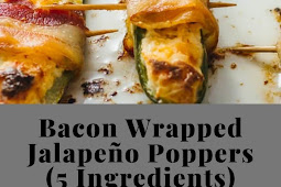 Bacon Wrapped Jalapeño Poppers (5 Ingredients)