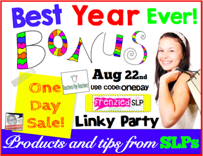 TpT Best Year Ever SALE: SLP Products and Tips LINKY