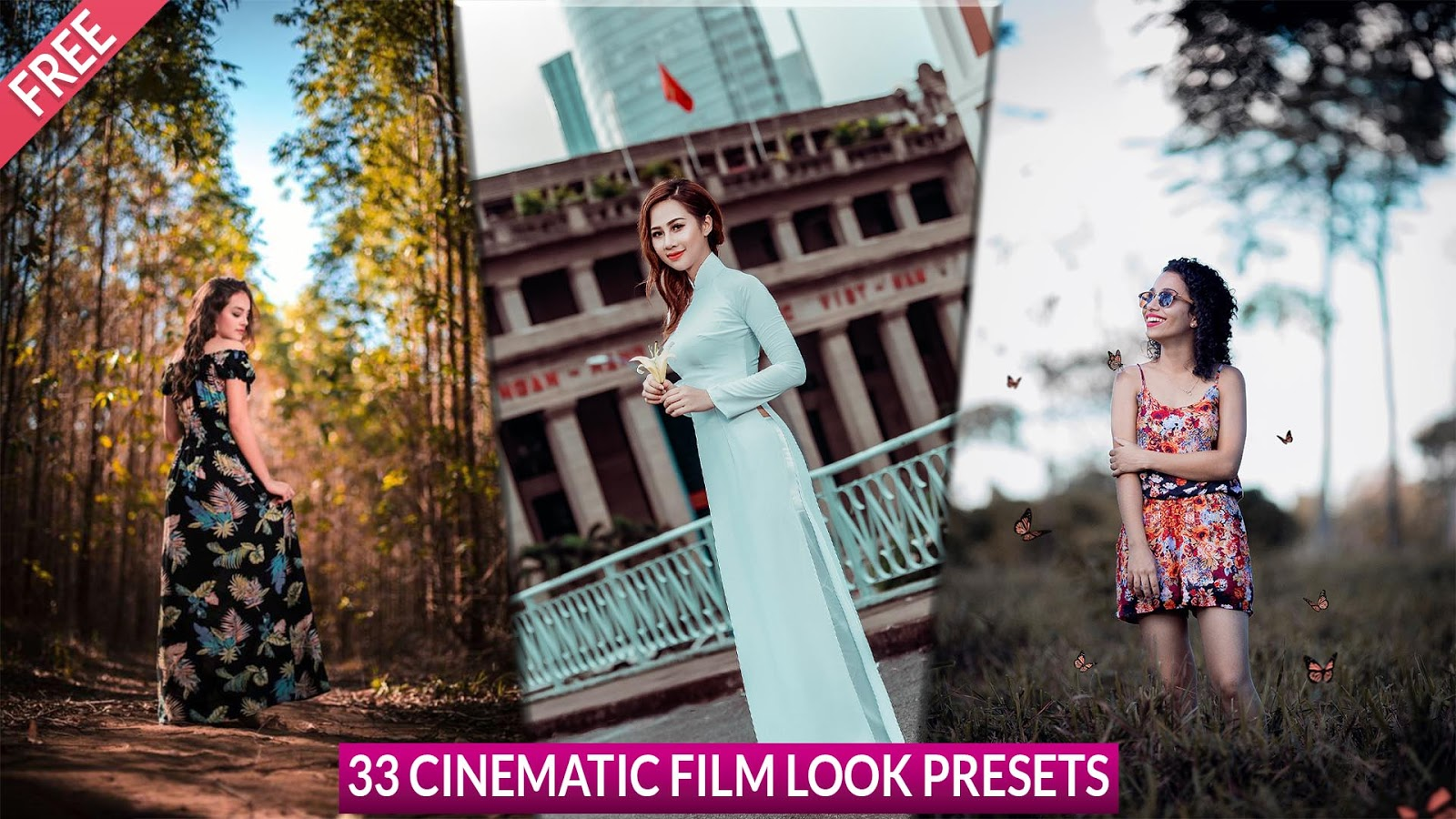 Best 33 Cinematic Film Look Free Camera Raw Presets