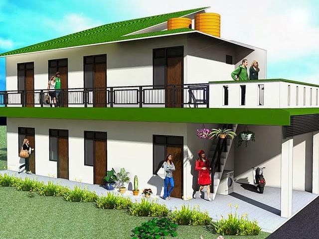 model rumah kos kosan minimalis 5