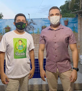 Vereador Ramon trata de projetos para Guarabira em encontro com gari ambientalista