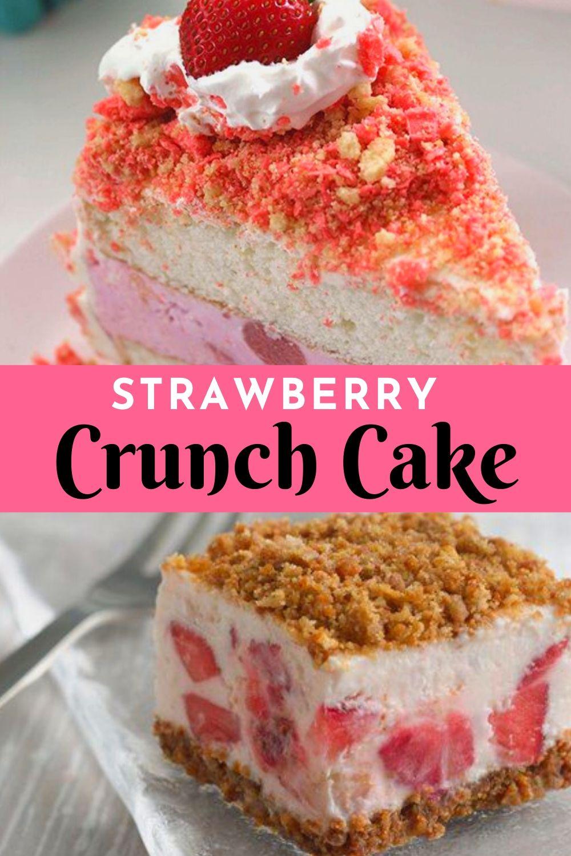 Strawberry Crunch Cake   New Recipe 2 - Best Yummy Recipes