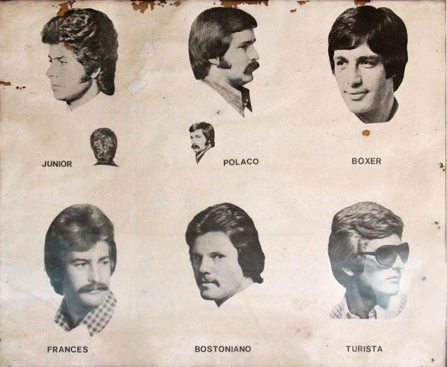 cabelos masculinos vintage