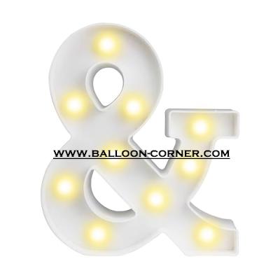 Lampu LED Bentuk Simbol Ampersand (Simbol &)