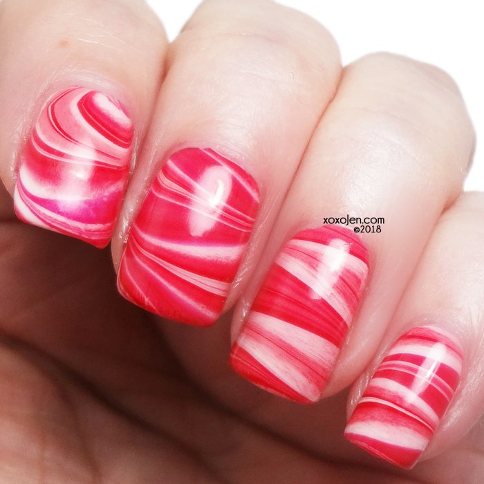 xoxoJen's swatch of Watermarble with Girly Bits