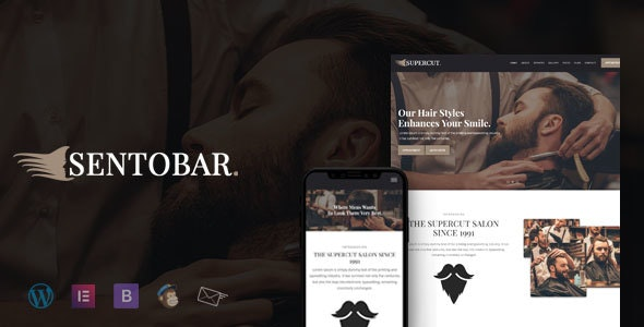 Sentobar Barbershop Responsive WordPress Themes