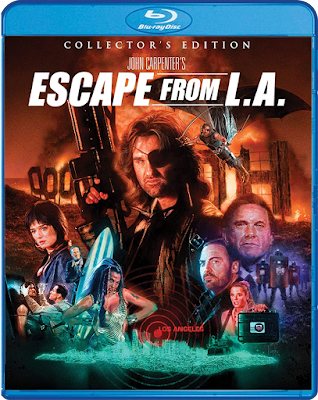 Cover art for Scream Factory's Collector's Edition Blu-ray of ESCAPE FROM L.A.!