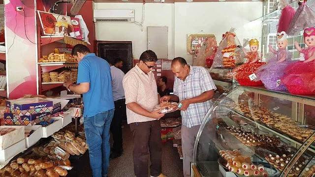 ضبط مصنع حلويات غير مرخص .. وتحرير 72 محضر تمويني متنوع بسوهاج