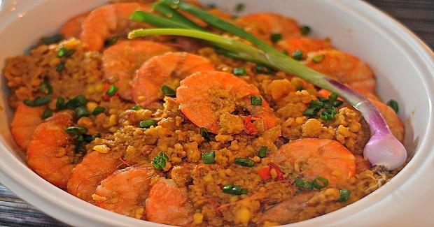 Salted Egg Shrimps Recipe